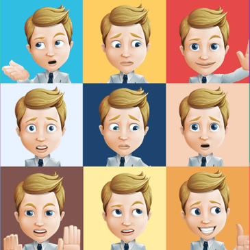Diferentes expresiones faciales según emocionalidad.